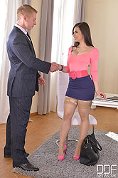 From Work To Pleasure: Brunette Gets Banged In Office And Bedroom
