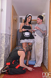 Renovate or Penetrate - Hardcore Threesome With Curvy Maid